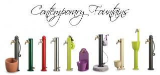 Pieroni dante fontane e docce contemporanee da giardino - Rubinetti per fontane da giardino ...